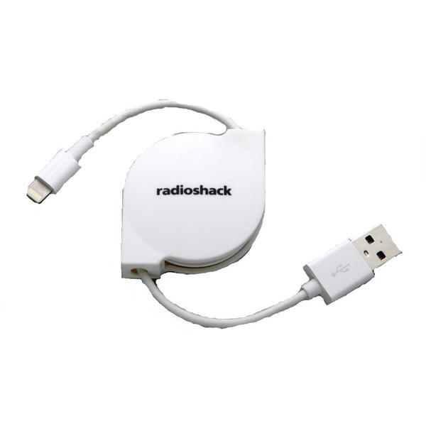 RadioShack 2-Foot Retractable Lightning Charge/Sync Cable (White)