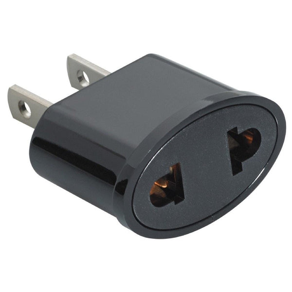 Cool European To U S Ac Power Plug Adapter Non Grounded Wiring Cloud Hisonuggs Outletorg