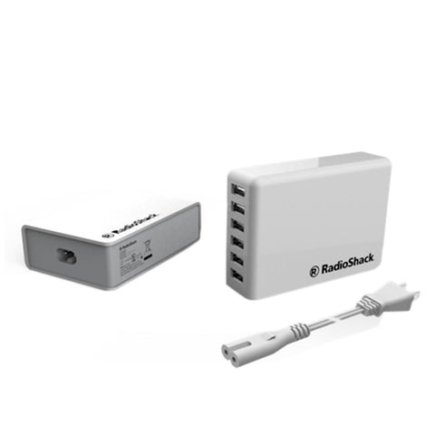 RadioShack 5V/12A 6-Port USB Wall Charger