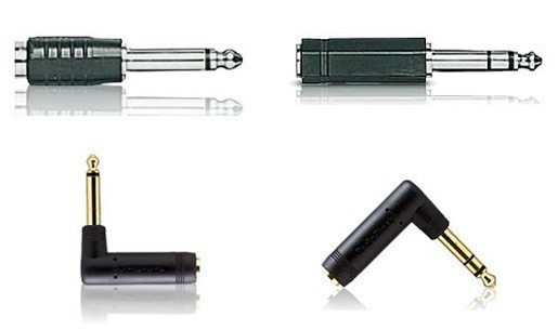 "Assorted 1/4"" Audio Adapters (4-Pack)"