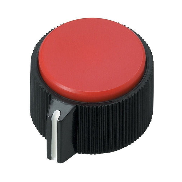Round Red Insert Control Knob (2-Pack)