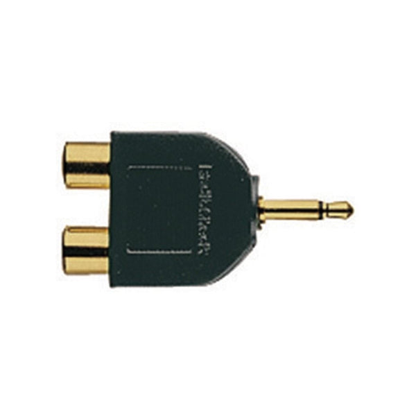 Gold-Plated Audio Y-Adapter 1/8-Inch Mono Jack-to-Phono plugs