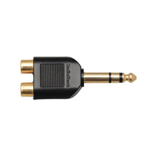 RadioShack Gold-Plated Y-Adapter Stereo Phone Jack-to-Phono plugs