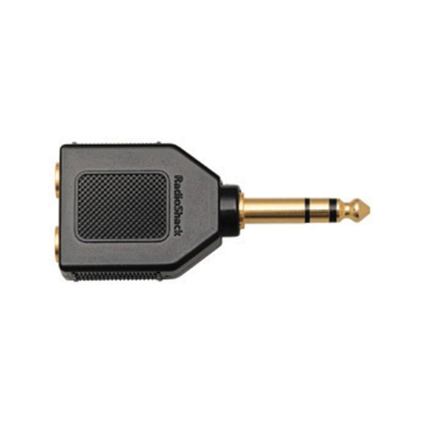 Gold-Plated 1/4-Inch Stereo Headphone Plug Adapter