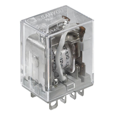 12VDC 10A DPDT Relay Switch on idec relay rh1b ul, idec rh1b-u, idec control relay, idec relay base,