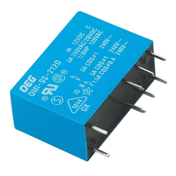 DPDT 12VDC Mini PC Relay