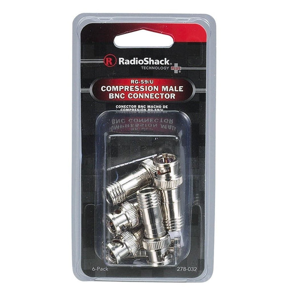 RadioShack BNC Male RG-59U Compression Connectors (6-Pack)