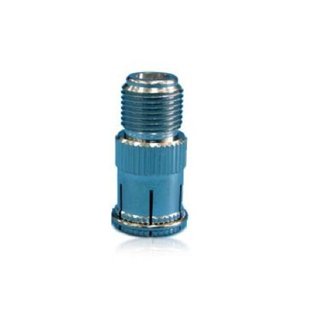 ANHAN Male//Female Connector F-pin Coaxial Quick Connect Adapter Threaded F-Jack to F-Quick Push On Plug Adapter 2Packs