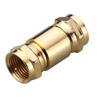 Gold Series Male-to-Male F Connector Adapter