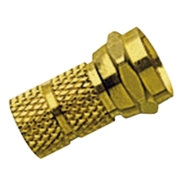 RadioShack Gold-Plated Twist-on F Connector