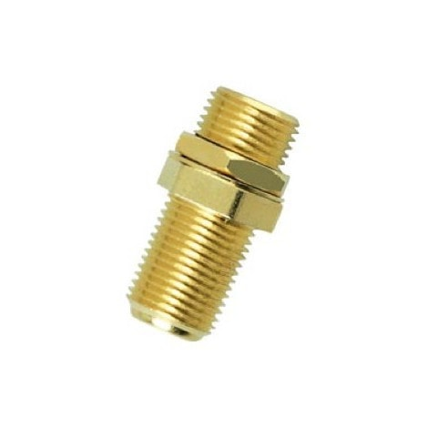 Gold-Plated F-81 Coaxial Cable Coupler (2-Pack)