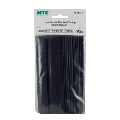 RadioShack 6-Inch Black Heat Shrink Tubing (24-Pack)