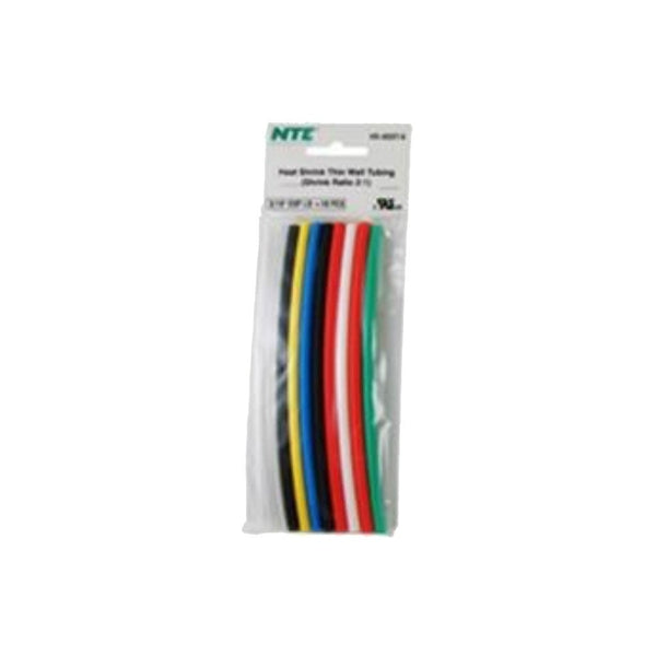 6-Inch Assorted Heat Shrink Tubing (10-Pack)