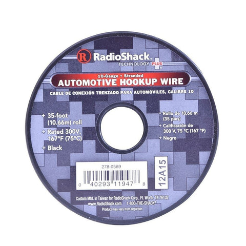 RadioShack 35-Foot 10AWG Automotive Hookup Wire (Black)