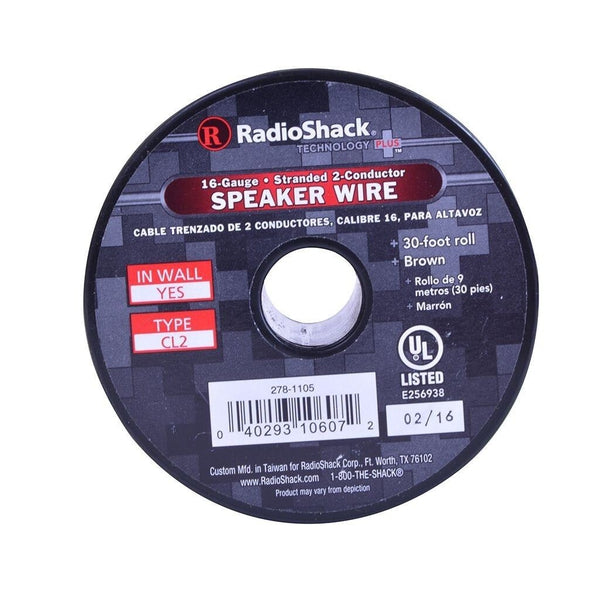 RadioShack 30-Foot 16AWG Speaker Wire