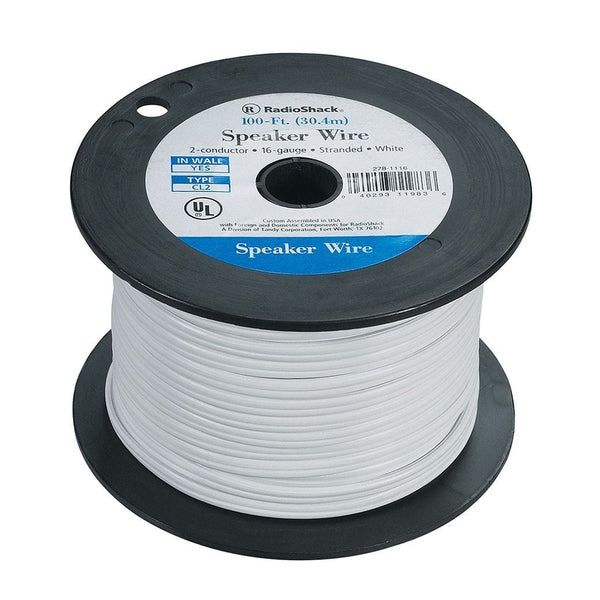 RadioShack 100-Foot 16-Gauge Speaker Wire