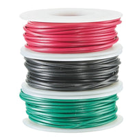 20-Gauge Stranded Hookup Wire 3-Pack - 25 Feet per Spool - Red, Black & Green