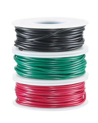 22-Gauge Stranded Hookup Wire 3-Pack - 30 Feet per Spool - Red, Black & Green