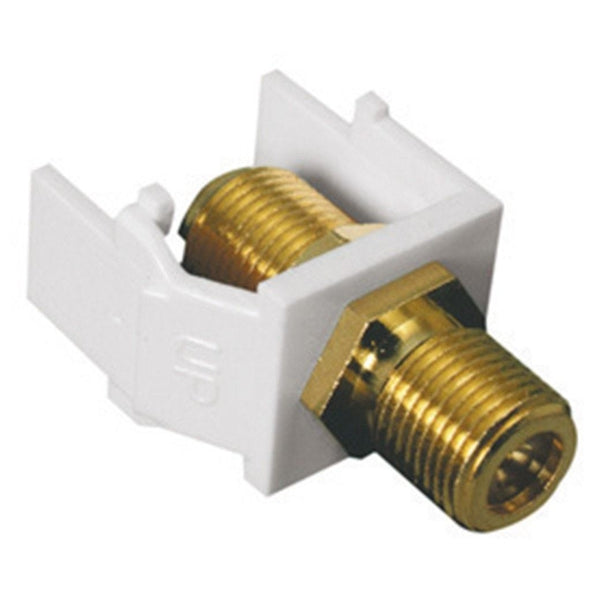 RadioShack Keystone Gold Plated F-Connector Module