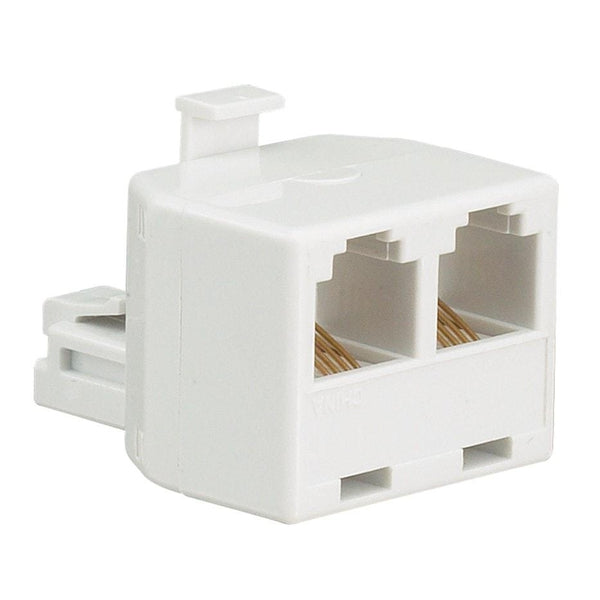 Telephone Line Splitter Male to 2 Female RJ11/6P4C (White)