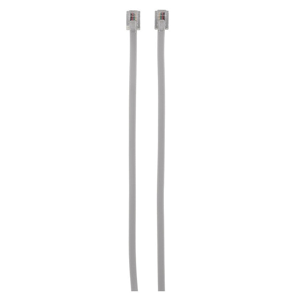6-Foot 4-Conductor MOD-MOD Cable (Silver)