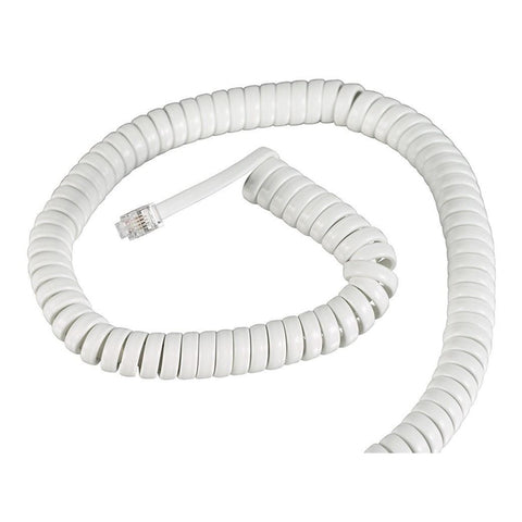 25-Foot Heavy-Duty Handset Phone Cord (White)