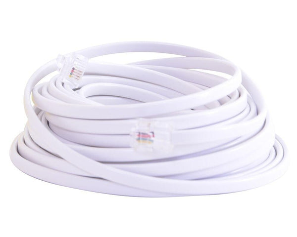 25-Foot UL-Listed Telephone Line Cord (White)