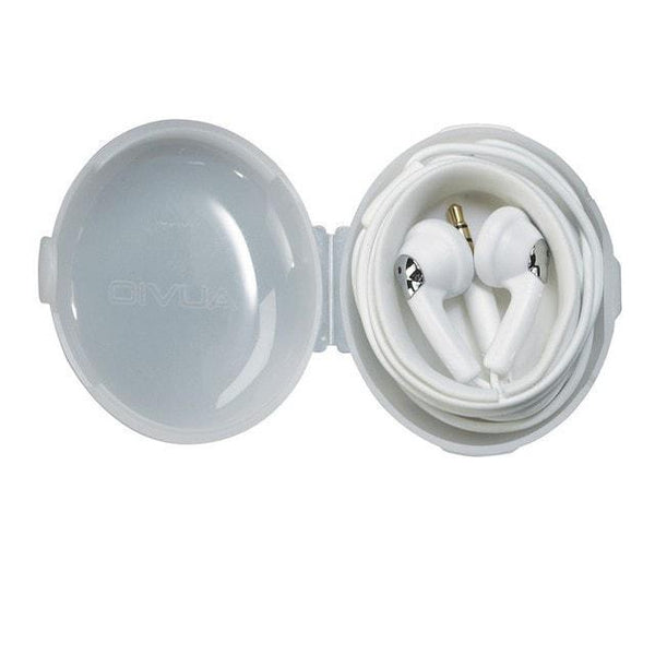 Earbuds w/ Carrying Case (White)