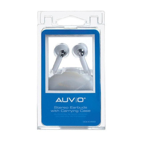 Auvio Earbuds w/ Carrying Case (White)
