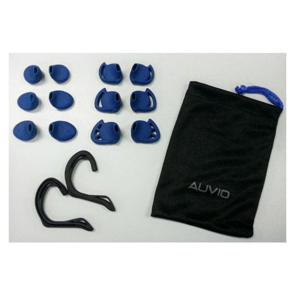 Auvio Outbound Series Sport Earbuds with Microphone (Black)