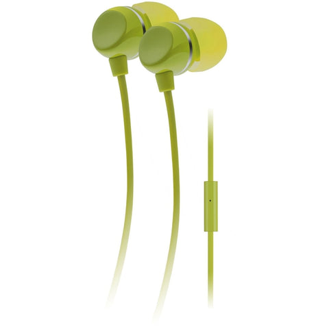 Auvio Color Earbuds with Microphone (Green)