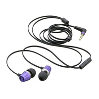 Metal Earbuds with Microphone (Purple)