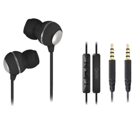 Auvio Earbuds with Apple Remote & Microphone (Black)