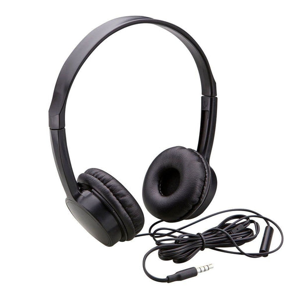Lightweight Headphones with Mic and Call/Audio Controls (Black)