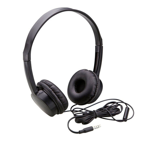 Auvio Lightweight Headphone with Microphone and Remote (Black)