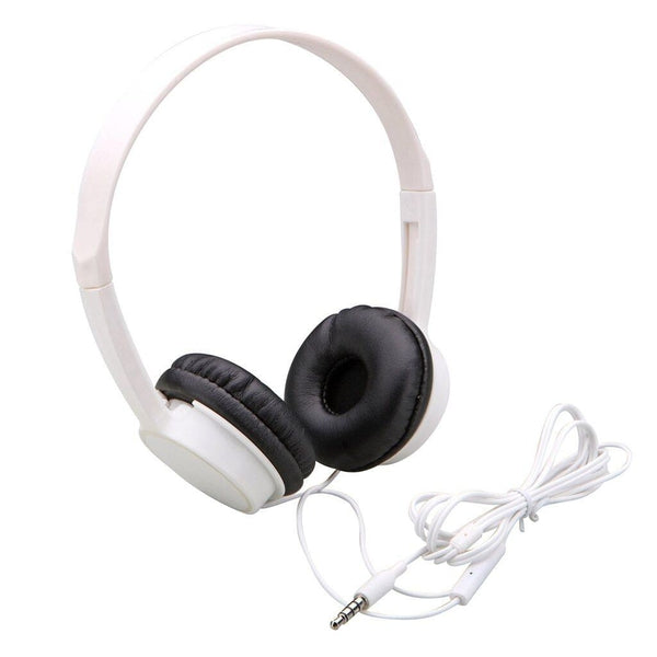 Auvio Lightweight Headphone with Microphone and Remote (White)