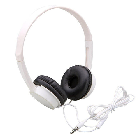 Lightweight Headphone with Microphone and Remote (White)