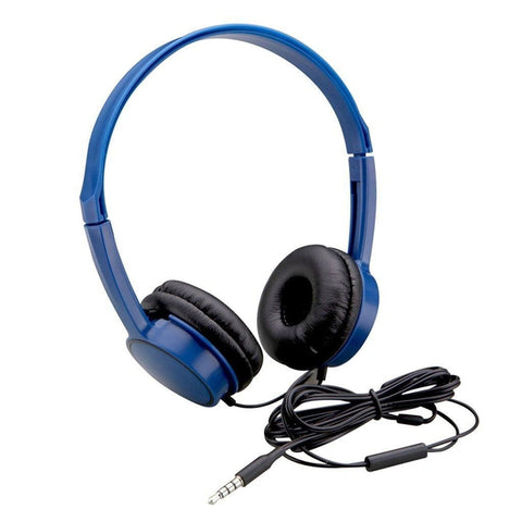 Auvio Lightweight Headphone with Microphone and Remote (Blue)