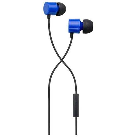 Auvio Color In-Ear Buds with Mic & Remote (Blue)