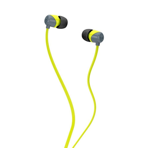 Skullcandy JIB Earbuds (Gray/Hot Lime)