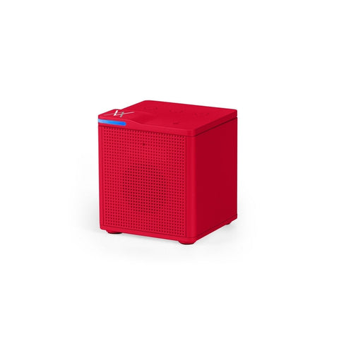 Auvio Portable Bluetooth Square Mono Speaker (Red)