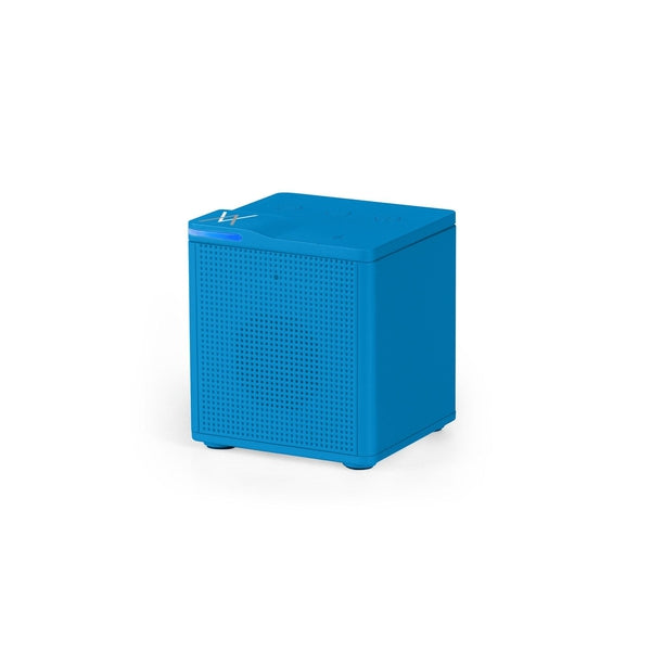 Auvio Portable Bluetooth Square Mono Speaker (Blue)