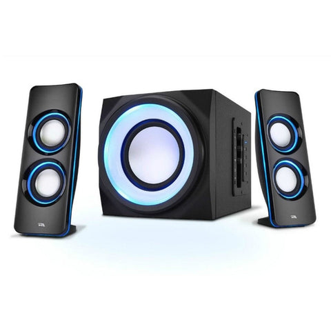 Cyber Acoustics Bluetooth Speaker System with LED Lighting Effects