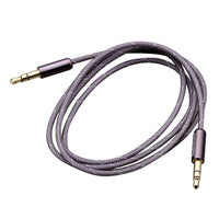 Braided - 3ft 1/8 (3.5mm) Stereo to Stereo Audio Cable - Grey