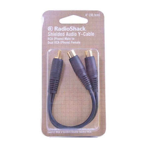 RadioShack 4-Inch Shielded Y Adapter 1-to-2