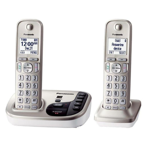 Panasonic KX-TGD222N Expandable Digital Phone w/ Answering Machine and 2 Cordless Handsets