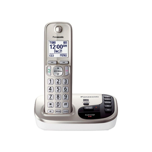 Panasonic KX-TGD220N Expandable Digital Phone w/ Answering Machine and 1 Cordless Handset