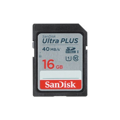 SanDisk 16GB Ultra PLUS SDHC UHS-I Memory Card