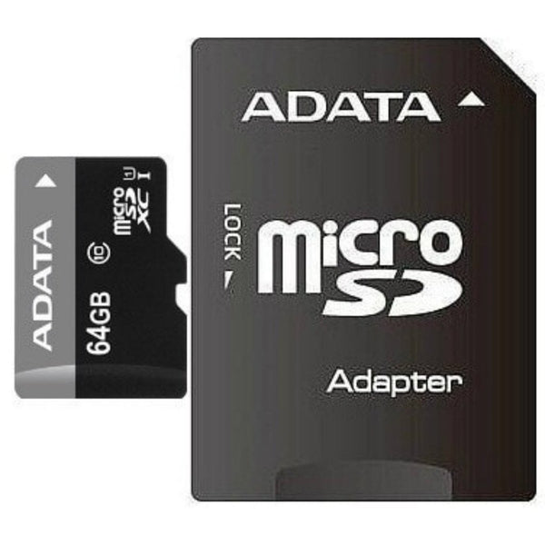 Adata 64GB MicroSDHC Memory Card with Adapter