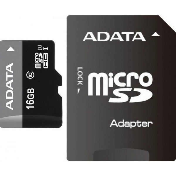 Adata 16GB MicroSDHC C10 Memory Card with Adapter